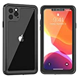 SNOWFOX iPhone 11 Pro Case, Built-in Screen Protector 360 Degree Full-Body Protection Heavy Duty Shockproof Clear Cover Case for iPhone 11 Pro 5.8 Inch Release 2019 (Black)