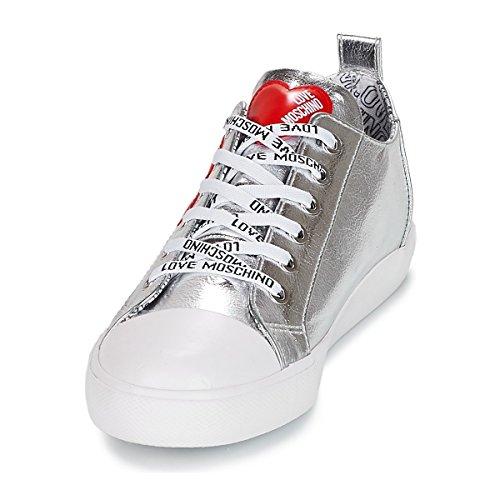 Grey Donna da Inverno Scarpe Argento Sneaker Love Autunno Moschino 2019 COqAH