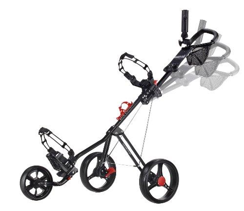 CaddyTek SuperLite Deluxe Golf Push Cart, Black
