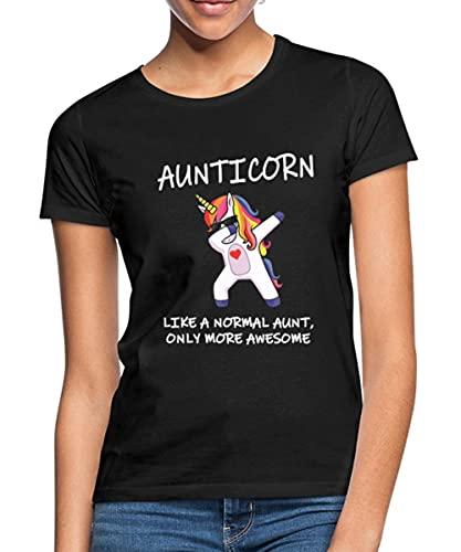 Spreadshirt Aunticorn eenhoorn Vrouwen T-shirt