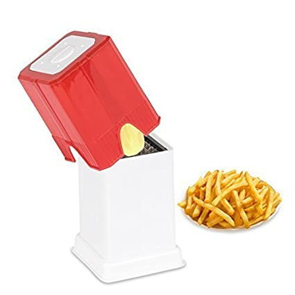 1f2029ce5ce Buy Perfect Life Ideas Plastic Potato Finger Chips Cutter French Fries  Cutter (Red White) Online at Low Prices in India - Amazon.in