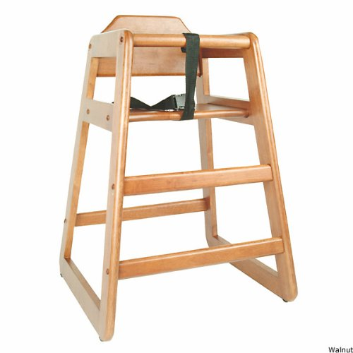 Children's Commercial Wooden High Chair by KegWorks