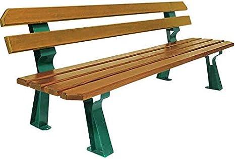 mes-meubles-jardin – Banco Chicago – acero y madera: Amazon.es: Jardín