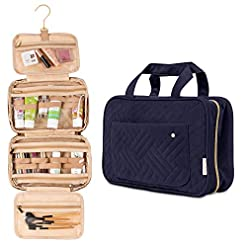 WMB Travel Pro 41rNk1gnYVL._SS247_ Travel Fanatics Water-Resistant Travel Bag for Toiletries, Cosmetic Travel Makeup Bag, Hanging Toiletry Bag for Women…