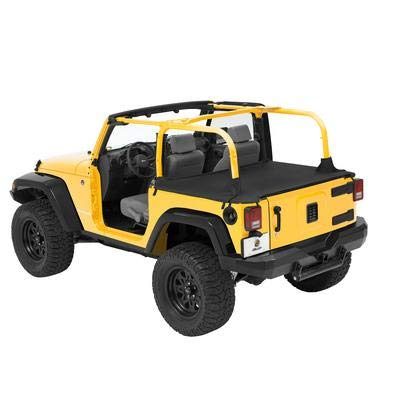 (Bestop 90031-35 Black Diamond Duster Deck Cover for 2007-2017 Wrangler Unlimited (with Factory Soft top Hardware Removed))