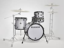Ludwig LC179X028 Breakbeats 4 Piece Shell Pack with Riser, White Sparkle