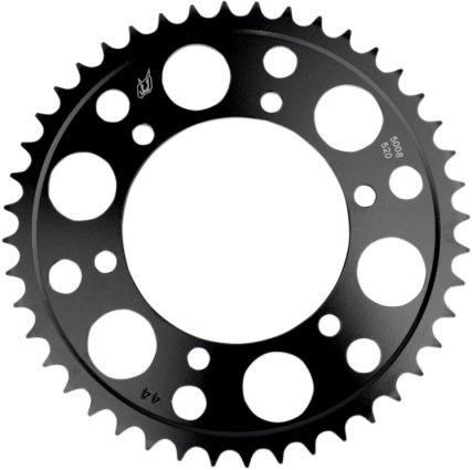 Driven Racing Steel Rear Sprocket - 42T, Sprocket Position: Rear, Sprocket Size: 520, Sprocket Teeth: 42, Color: Black, Material: Steel 5000-520-42T - Chrome Steel Sprocket