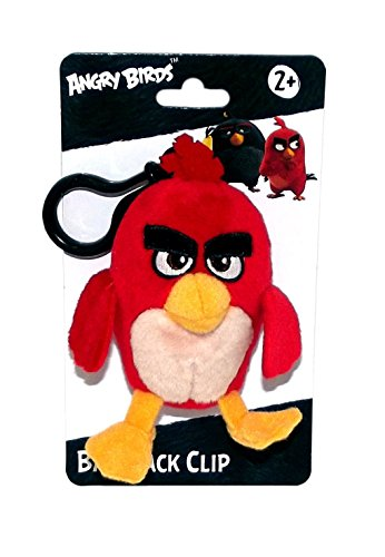 Angry Birds Movie Clip On Plush, Red (Angry Birds Red)