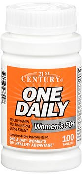 21st Century One Daily Tablets - 21st Century One Daily Women's 50+ Tablets, 100-Count