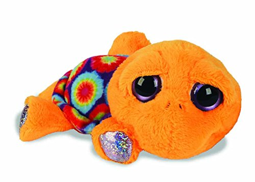 Suki Gifts Lil Peepers Fun Laguna Neon Circles Turtle Plush Toy with Silver Sparkle Accents (Small, Yellow) BabyCenter 11134