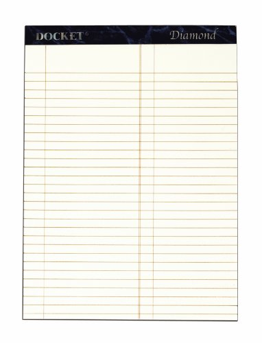 Tall Diamond Top - TOPS Docket Diamond 100% Recycled Premium Stationery Tablet, 8-1/2 x 11-3/4 Inches, Perforated, Ivory, Litigation Rule, 50 Sheets per Pad, 2 Pads per Pack (63984)