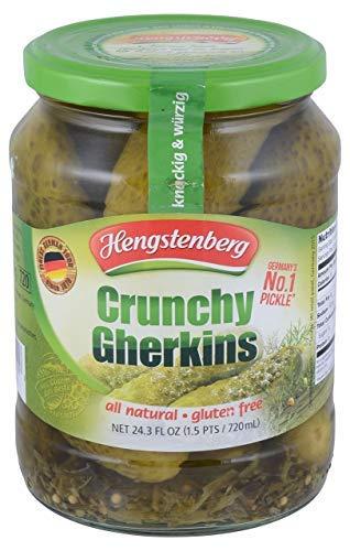 Hengstenberg, Gherkins Crunchy, 24.3 Fl Oz