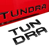 Automotive : Seven Sparta 3D Raised Tailgate Letters for Toyota Tundra 2014-2019 Zinc Alloy Emblem Inserts (Black)