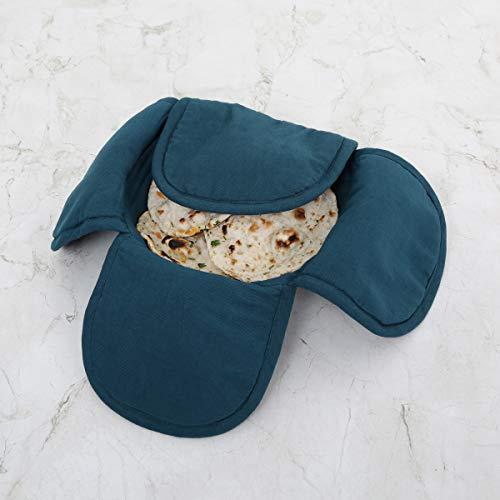 Home Centre Colour Connect Cotton Bamboo Bread Basket (9 cm x 23 cm, Blue)