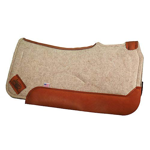 (Impact Gel Tan Felt 30x30 Contoured Saddle Pad 3/4)