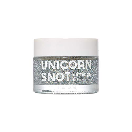 Unicorn Snot Holographic Body Glitter Gel - Vegan & Cruelty Free - Gift - Festival - Rave - Costume (45 ml) (Silver)]()