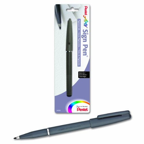 (Pentel Arts Sign Pen with Pigment Ink, Black Ink (ST150BPA))