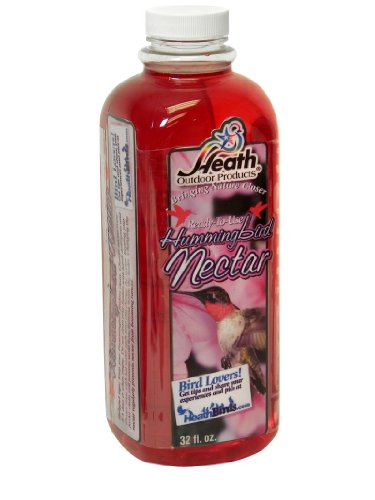 - Heath Outdoor Products NECLR32R 32-Ounce Hummingbird Liquid Red Nectar, Case Of 12