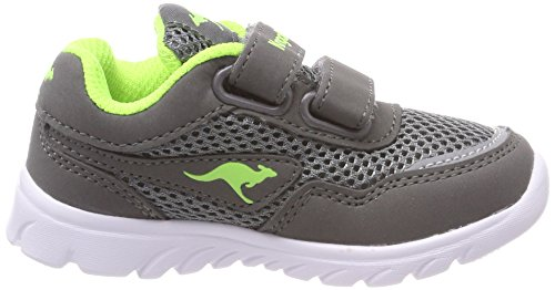 Kangaroos Inlite 3003b - Zapatillas de casa Niñas Grau (Steel Grey/Lime)