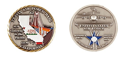 (NEW Travis Air Force Base Challenge Coin - Ships Within 24 Hours)