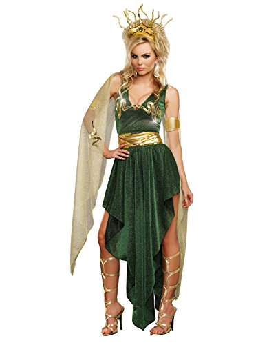 Dreamgirl Women's Medusa, Green, Medium -