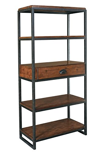 Storage Baker's Rack with Iron Drame Material Shelf Material is Wood in Brown Color and the Base is in Black Color With One Drawer For Storage Organize Your Kitchen Now by eCom Fortune