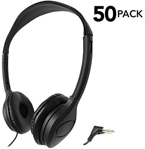 Head Stereo Headphones - SmithOutlet 50 Pack Over The Head Low Cost Headphones in Bulk