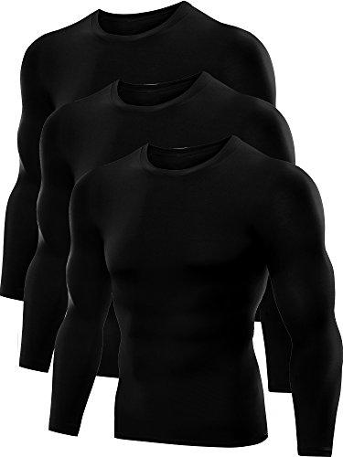 Neleus Men's Dry Fit Athletic Compression Shirts 3 Pack