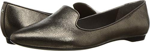 Donna Karan Women's Gold Loafer Pewter Crinkled Metallic 6 M US