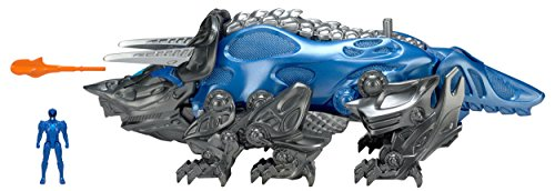 Power Rangers Movie Triceratops Battle Zord with Blue Ranger Figure (Blue Power)