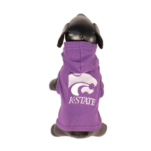 NCAA Kansas State Wildcats Collegiate Cotton Lycra Hooded Dog Shirt, Team Color, XX-Large Purple/White