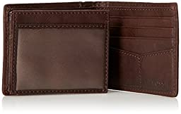 Fossil Men\'s Ingram Traveler Wallet, Brown, One Size