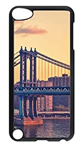 Brian114 Case, iPod Touch 5 Case, iPod Touch 5th Case Cover, Bay Bridge New York Retro Protective Hard PC Back Case for iPod Touch 5 ( Black )