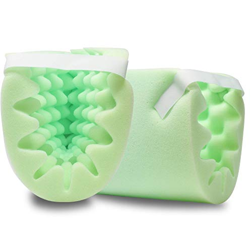 Pivit Boot-Shape Convoluted Foam Heel & Elbow Protector Cushion Pillows | 2 Pack | Advanced Protection Pads Relieve Discomfort & Pain | Protects Your Foot Ankle Or Arm From Pressure Ulcers & Bed Sores