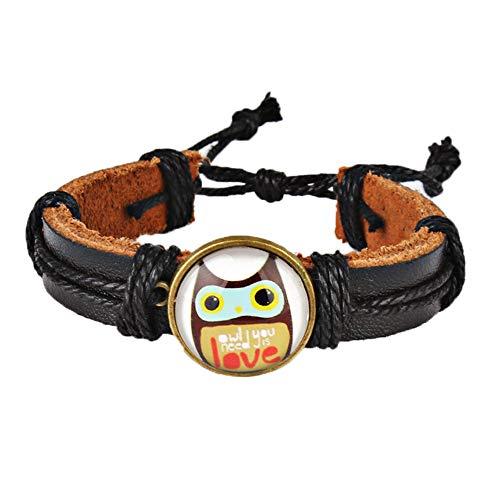 Cute Owl Waist Strap, Cartoon Watch Bracelet with Braid Hemp Rope -