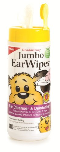 Petkin Jumbo Earwipes, 80-Count (Pack of 4), My Pet Supplies