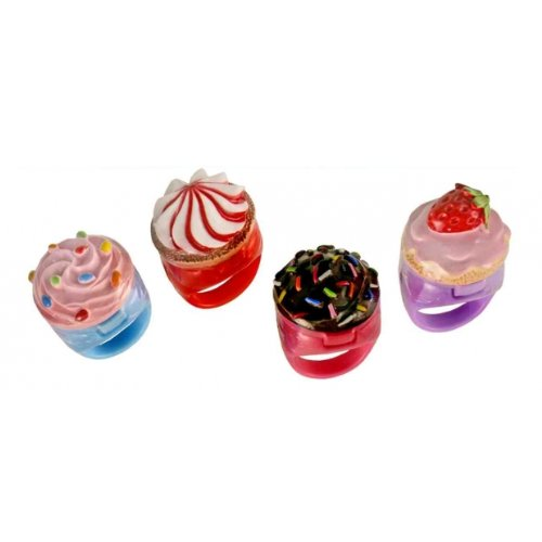 (Cupcake Cutie Ring and Lip Gloss - Set of 4)