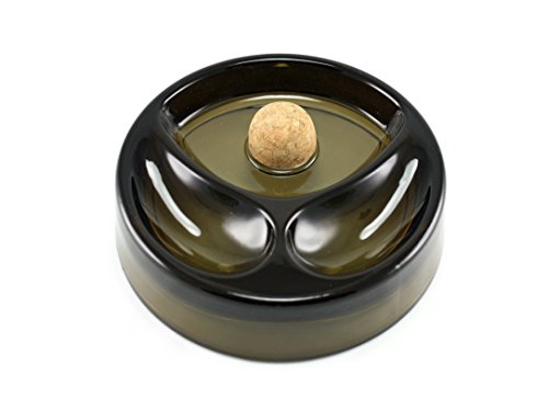 Skyway Products Tobacco Pipe Ashtray With Cork Knocker And 2 Pipe Stand, Large Smoke