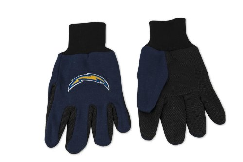 NFL San Diego Chargers Two-Tone Gloves, Blue/Black