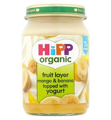 Hipp Organic Fruit Layer Mango & Banana Topped With Yogurt 160G - Pack of 2