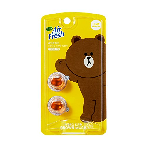 Little Trees Car Freshener Costume (LINE FRIENDS Brown Musk Car Air Freshener - Refill One Size Yellow_Brown)