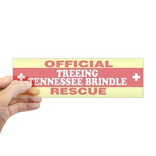 "CafePress Treeing Tennessee Brindle Bumper Sticker 10""x3"" Rectangle Bumper Sticker Car Decal"