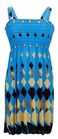 NY Deal Women's Summer Short Dresses, 27-Blue, XX-Large