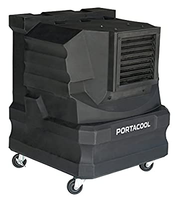 PortacoolPACCYC02 Cyclone 2000 Portable Evaporative Cooler with 500 Square Foot Cooling Capacity, Black