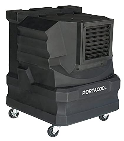 PortacoolPACCYC02 Cyclone 2000 Portable Evaporative Cooler with 500 Square Foot Cooling Capacity, (Evaporative Cooler Portable)