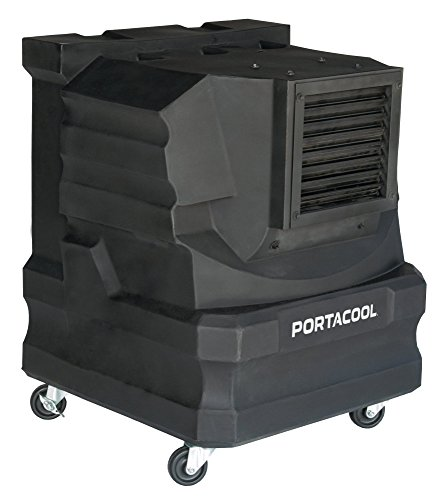 PortacoolPACCYC02 Cyclone 2000 Portable Evaporative Cooler with 500 Square Foot Cooling Capacity, Black by Portacool