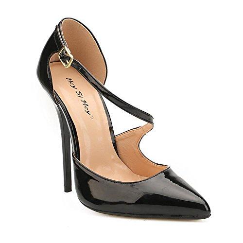 L@YC Femmes Chaussures en Cuir Verni Printemps Automne Pompe Talons Talon Stiletto Pour Casual Noir/Rouge black YEGTWuLkNh