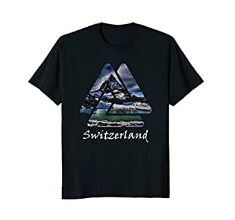 Amazon.com: Suiza Zermatt Matterhorn montaña playera: Clothing