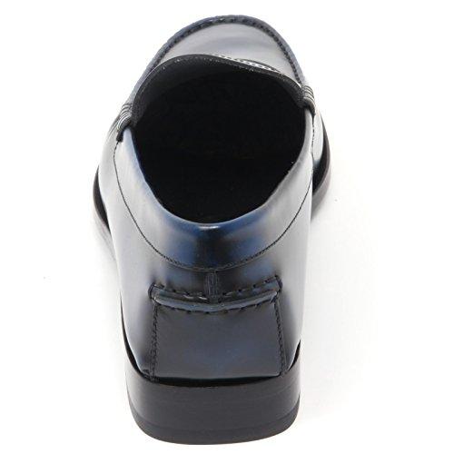 B8420 mocassino uomo TODS scarpa blu fondo cuoio shoe loafer man Blu