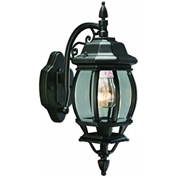 Design House 505545 Cantebury 1 Light Indoor/Outdoor Wall Light, Black